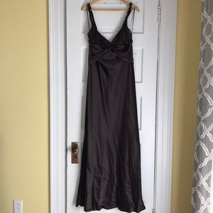 Chocolate brown satiny gown